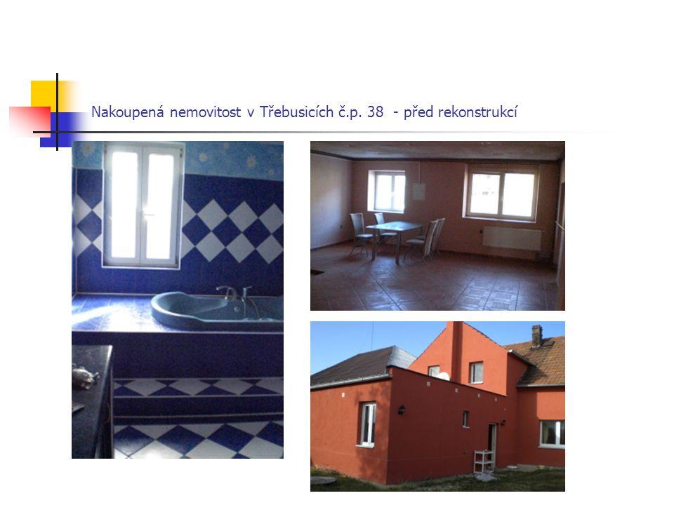 Nakoupená nemovitost v Třebusicích č.p. 38 - před rekonstrukcí