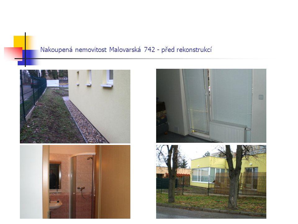 Nakoupená nemovitost Malovarská 742 - před rekonstrukcí