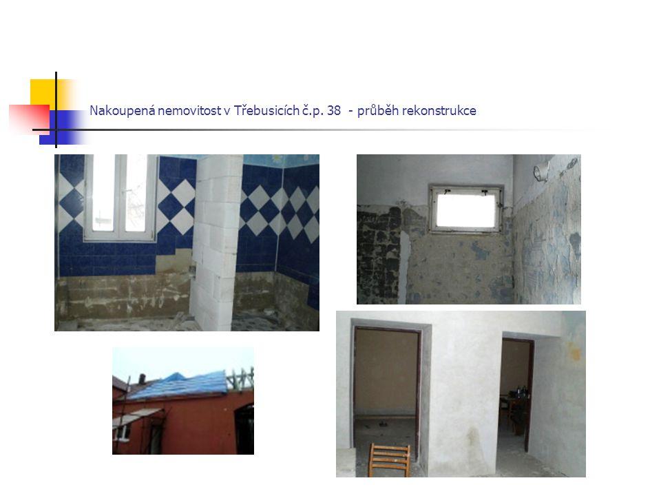 Nakoupená nemovitost v Třebusicích č.p. 38 - průběh rekonstrukce