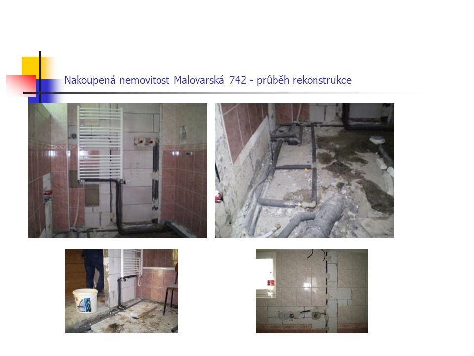 Nakoupená nemovitost Malovarská 742 - průběh rekonstrukce