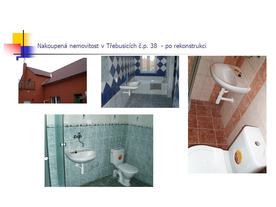 Nakoupená nemovitost v Třebusicích č.p. 38 - po rekonstrukci