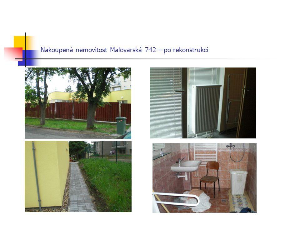 Nakoupená nemovitost Malovarská 742 – po rekonstrukci