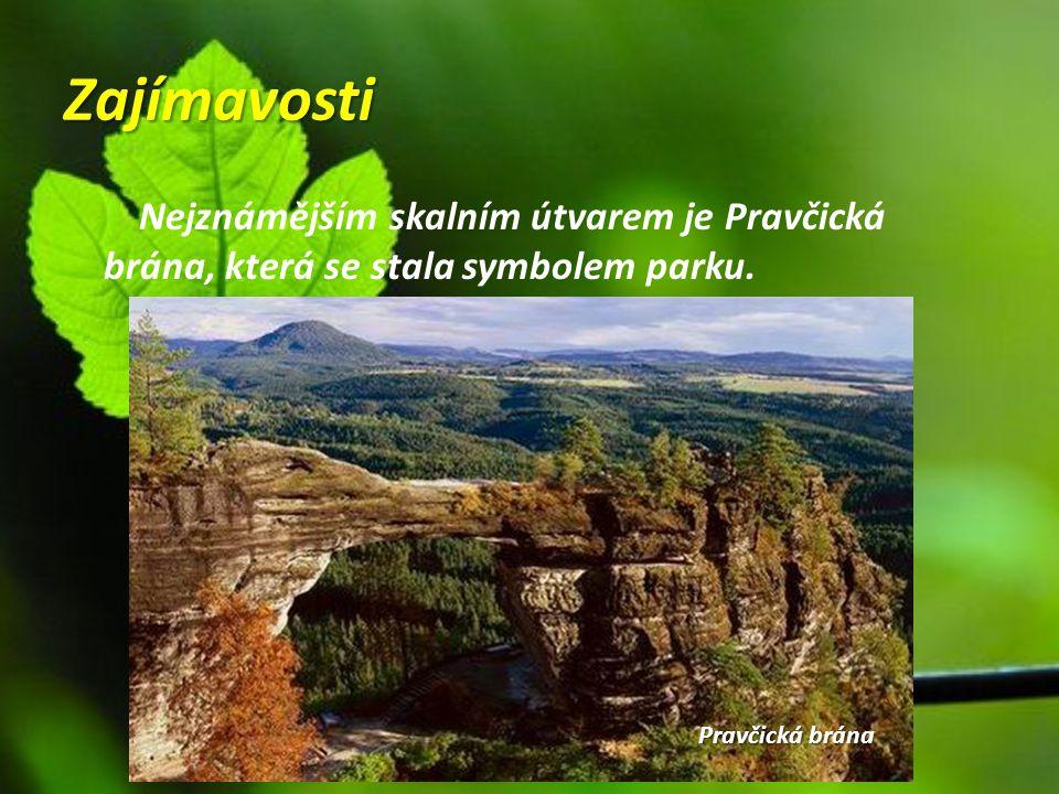 Zajímavosti Nejznámějším skalním útvarem je Pravčická brána, která se stala symbolem parku. Pravčická brána