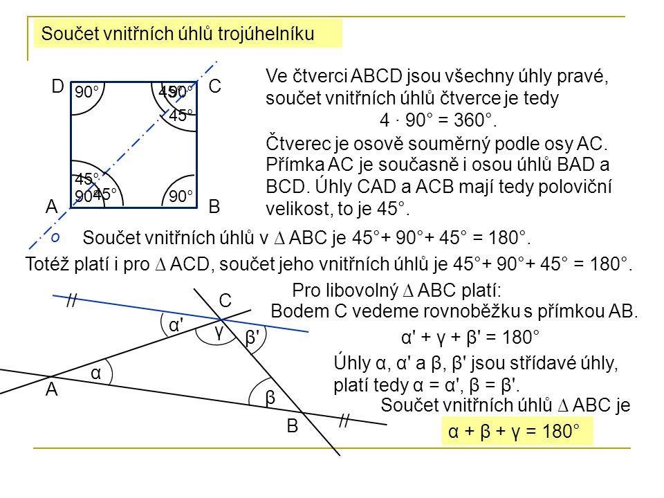 α Urči velikost zbývajících úhlů v ∆ ABC, je-li α 1 = 127° a γ = 72°.