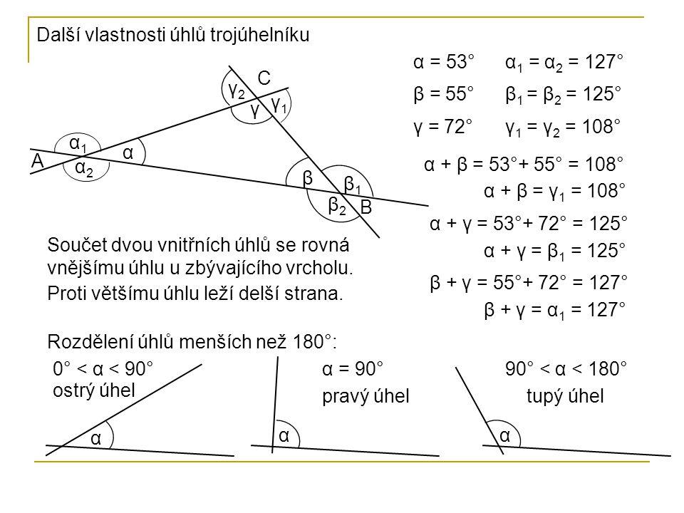 Kolik tupých, pravých a ostrých úhlů může být v trojúhelníku.