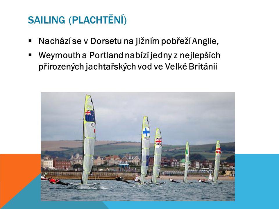 SAILING (PLACHTĚNÍ)  Nachází se v Dorsetu na jižním pobřeží Anglie,  Weymouth a Portland nabízí jedny z nejlepších přirozených jachtařských vod ve Velké Británii