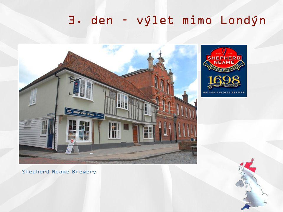 3. den – výlet mimo Londýn Shepherd Neame Brewery