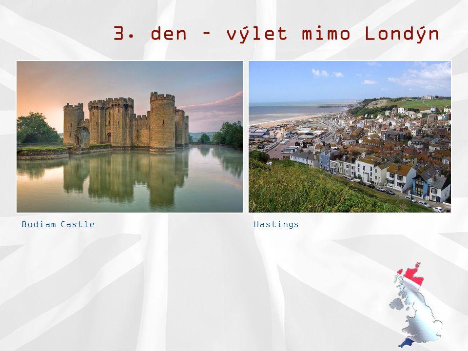 3. den – výlet mimo Londýn Bodiam CastleHastings