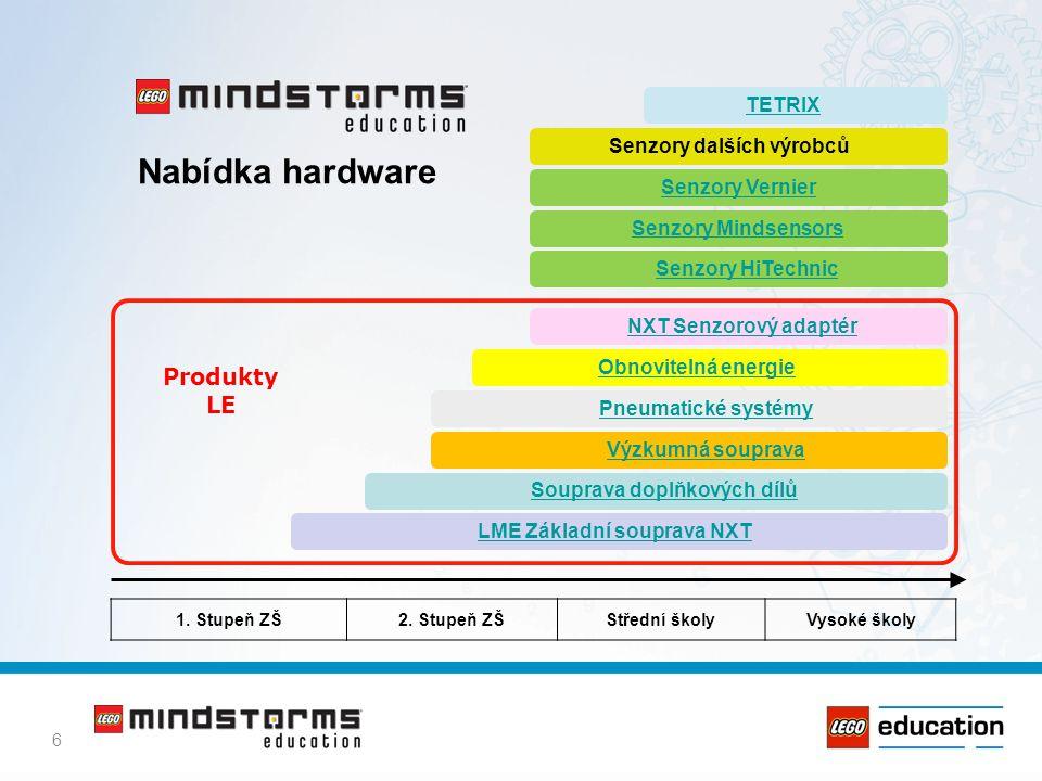 7 LEGO MINDSTORMS Education NXT LabVIEW ROBOLAB 2.9 ROBOTC Produkty LE 2 řízení NXT pouze UK Microsoft Robotics Studio NBC (Next Byte Codes) 1.