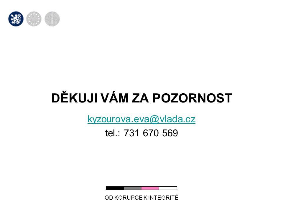 DĚKUJI VÁM ZA POZORNOST kyzourova.eva@vlada.cz tel.: 731 670 569