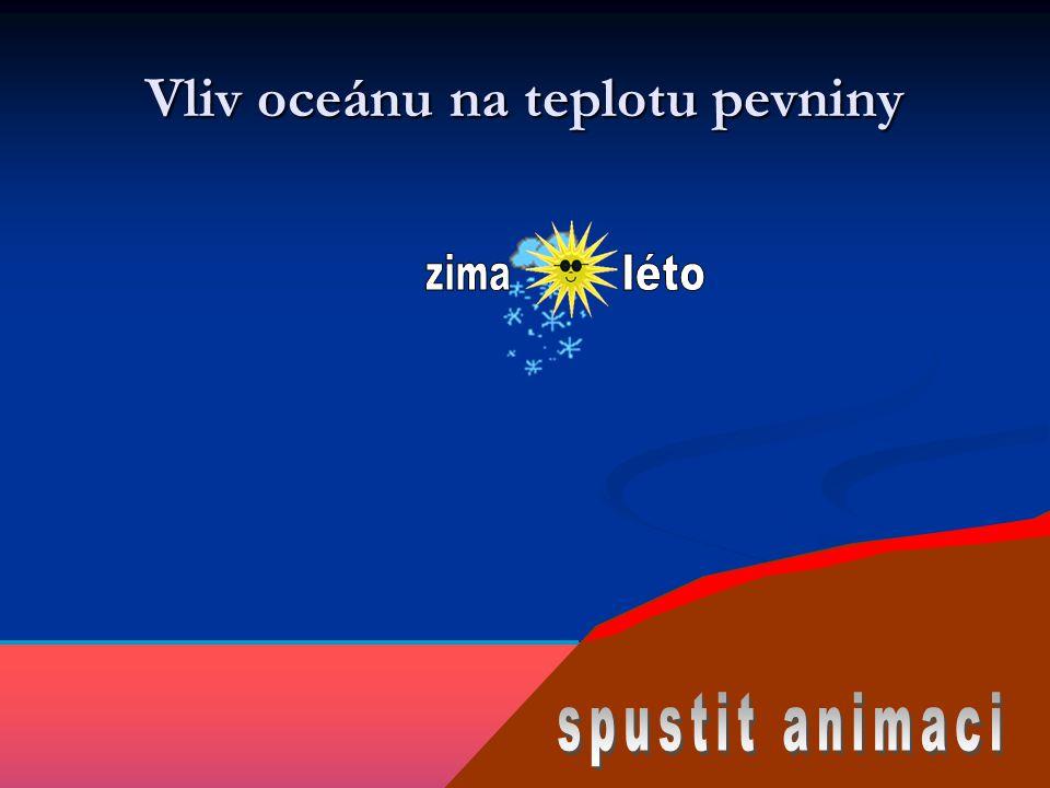 Vliv oceánu na teplotu pevniny
