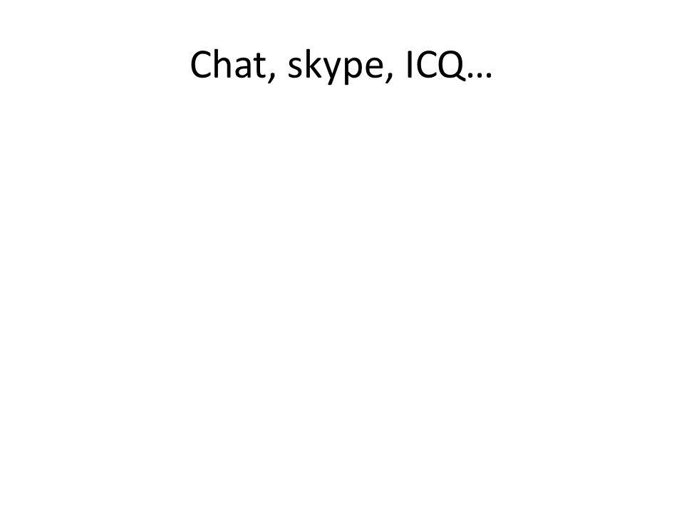 Chat, skype, ICQ…