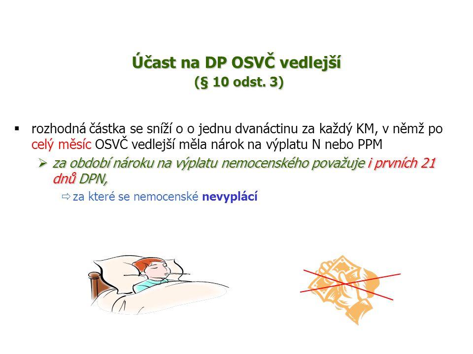 Účast na DP OSVČ vedlejší (§ 10 odst.