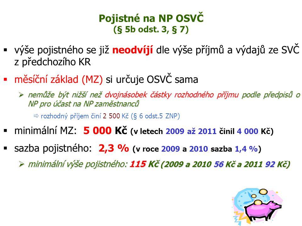 Pojistné na NP OSVČ (§ 5b odst.