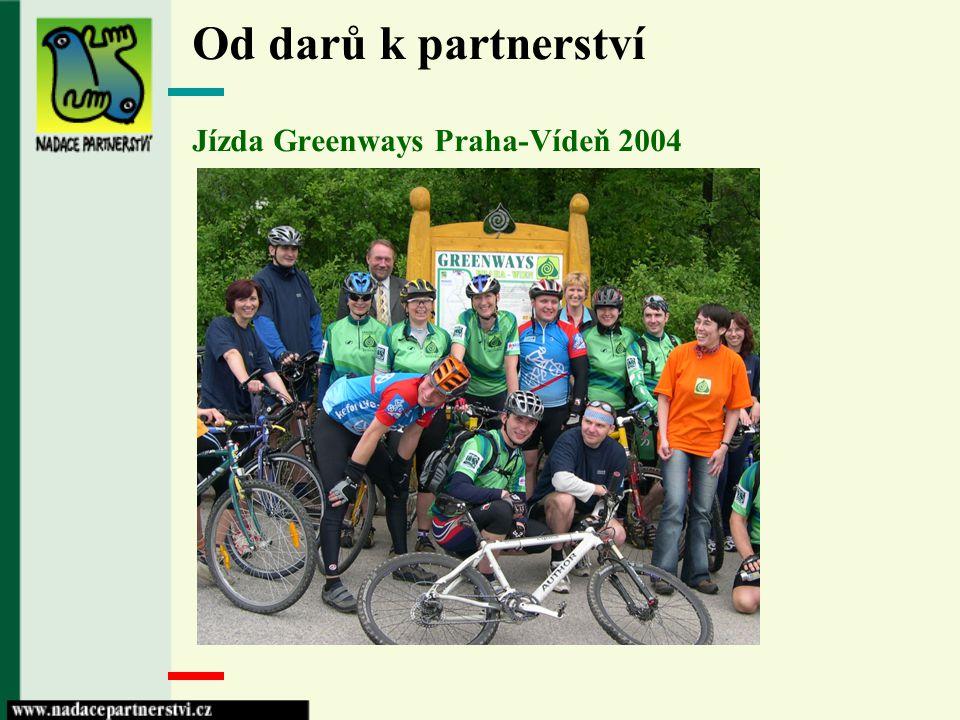 Od darů k partnerství Jízda Greenways Praha-Vídeň 2004