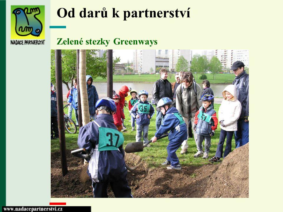 Od darů k partnerství Zelené stezky Greenways