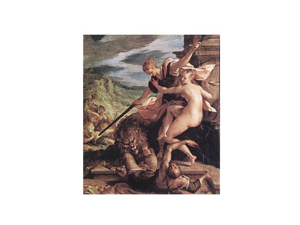 Manýrismus ( 1520 – 1590) •umění mezi vrcholnou renesancí a barokem •vyznačuje se protáhlými postavami, duhovou barevností a uvolněnou kompozicí •sochařství: Giambologna, Parmigiamino •malířství: El Greco (vl.
