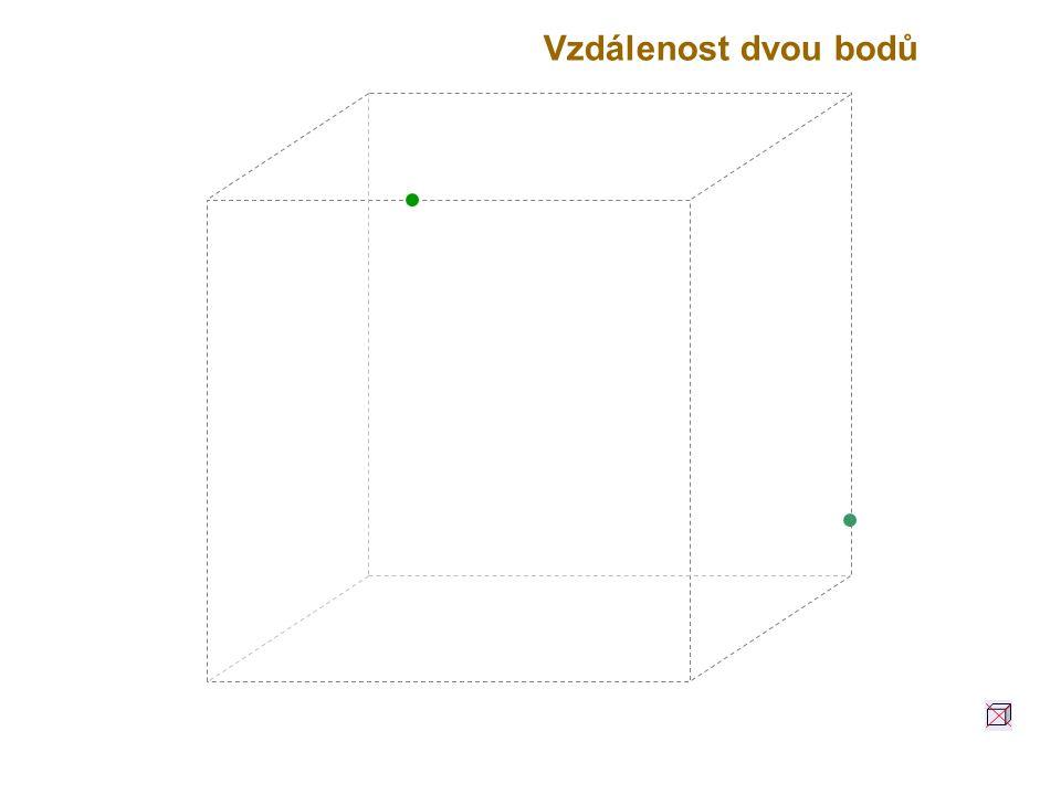 A B Vzdálenost dvou bodů A a B je délka úsečky AB.
