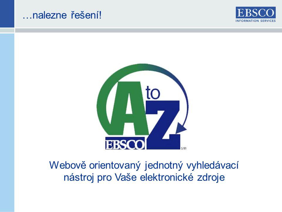 Služby našeho programu A-to-Z • Webové služby, které umožňují knihovnám přístup k jednotnému a ucelenému soupisu časopisů.