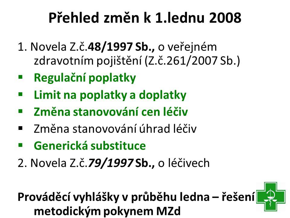 Přehled změn k 1.lednu 2008 1.