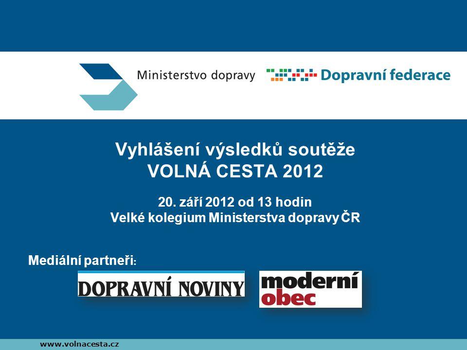 Vyhlášení výsledků soutěže VOLNÁ CESTA 2012 20.