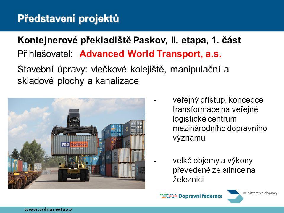 Představení projektů Kontejnerové překladiště Paskov, II.