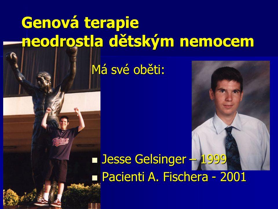 Má své oběti:  Jesse Gelsinger – 1999  Pacienti A.