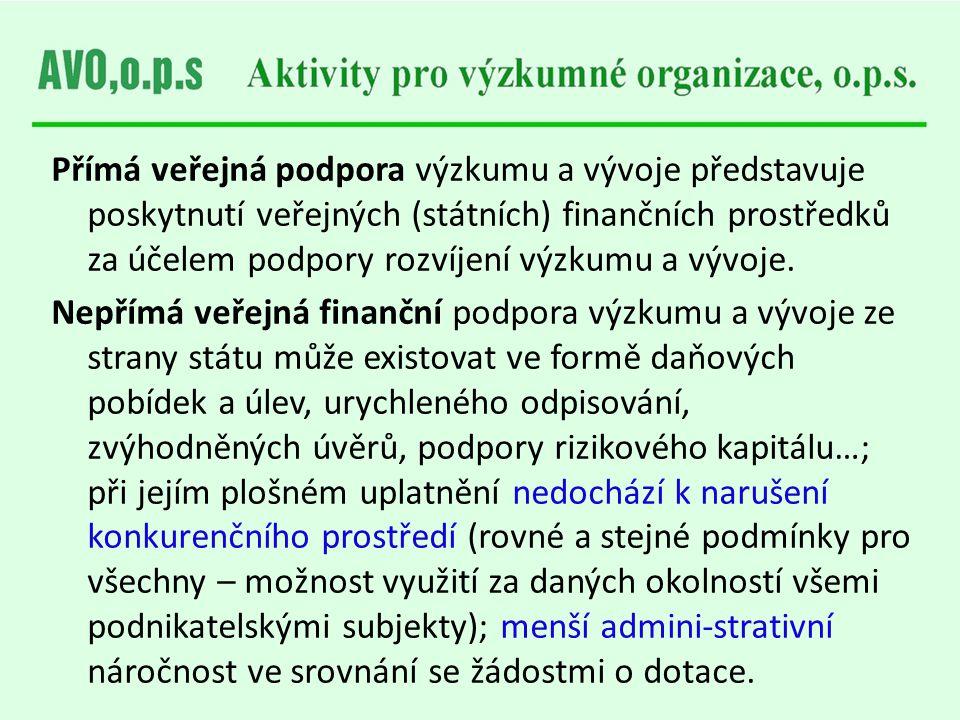 Institucionální a účelová podpora VaVaI ČR v letech 2006–2012 (mil Kč) Převzato z publikace PRŮVODCE SYSTÉMEM VEŘEJNÉ PODPORY VÝZKUMU, VÝVOJE A INOVACÍ V ČESKÉ REPUBLICE – 2012; © 2011 ČSNMT; ISBN 978-80-87294-30-7