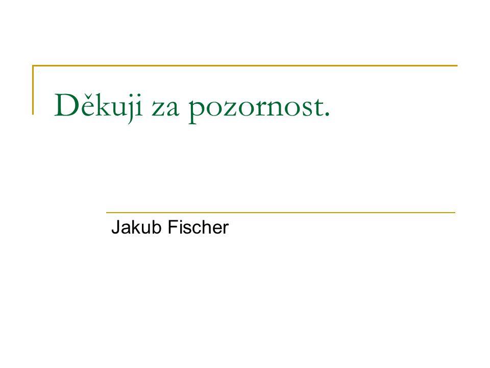 Děkuji za pozornost. Jakub Fischer