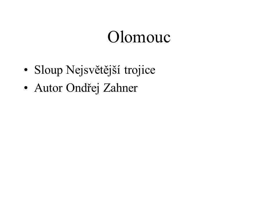 Olomouc •Sloup Nejsvětější trojice •Autor Ondřej Zahner