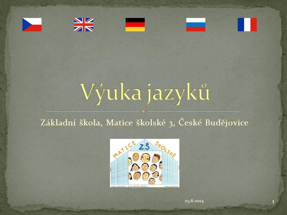 25.6.2014 1 Základní škola, Matice školské 3, České Budějovice