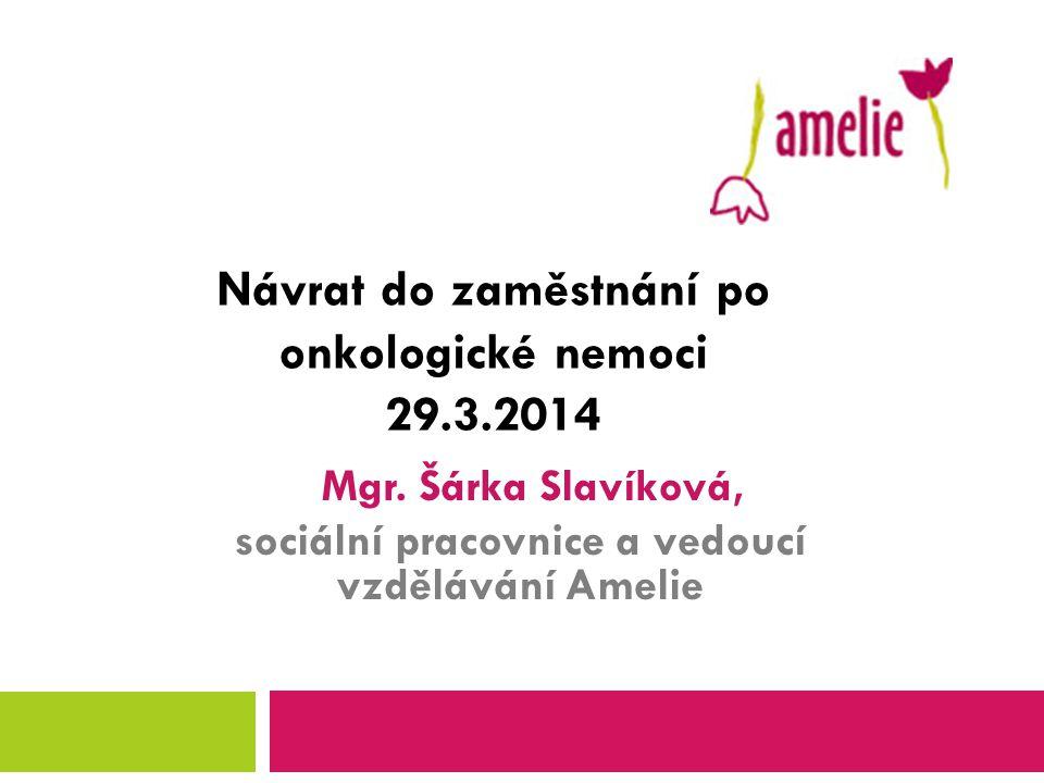 Vznik a poslání Amelie  Založení Amelie, o.s.