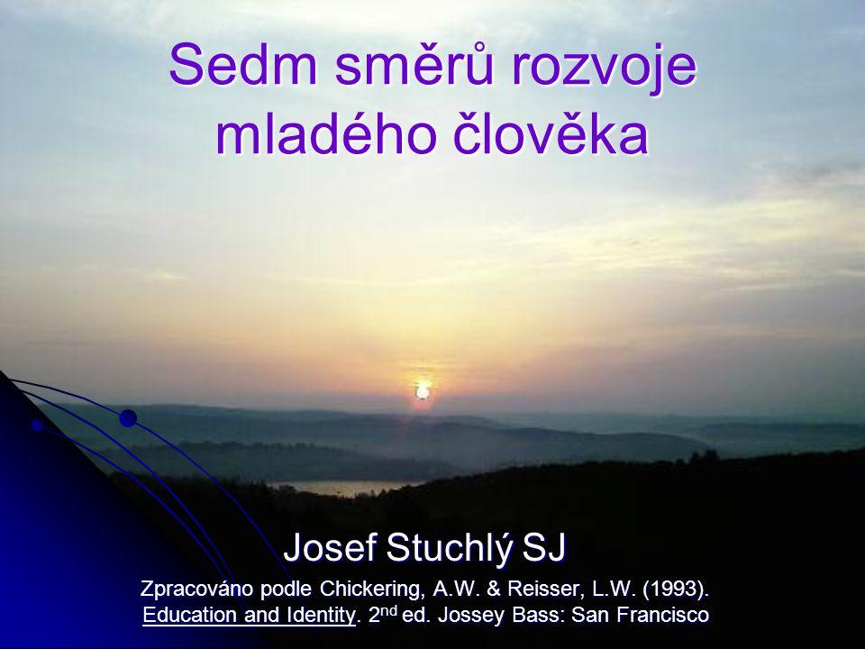 Sedm směrů rozvoje mladého člověka Josef Stuchlý SJ Zpracováno podle Chickering, A.W. & Reisser, L.W. (1993). Education and Identity. 2 nd ed. Jossey