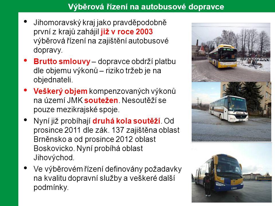 16 Výběrová řízení na autobusové dopravce • Jihomoravský kraj jako pravděpodobně první z krajů zahájil již v roce 2003 výběrová řízení na zajištění autobusové dopravy.