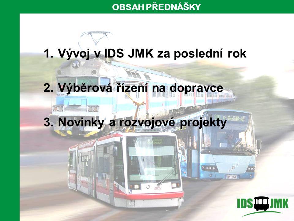 2 1.Vývoj v IDS JMK za poslední rok 2. Výběrová řízení na dopravce 3.