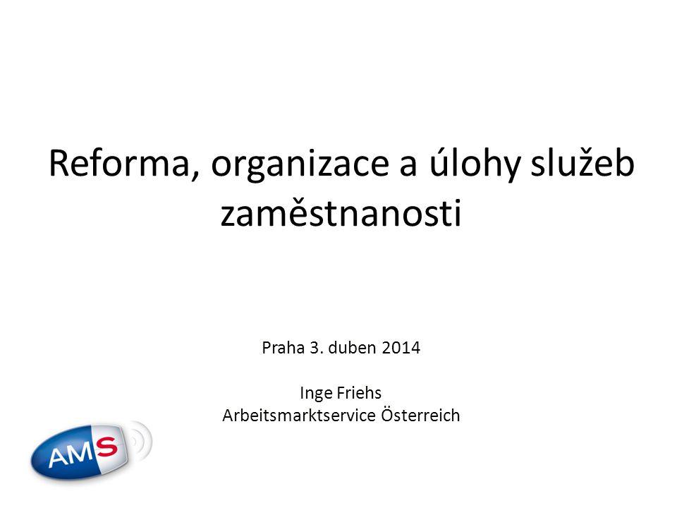 Reforma, organizace a úlohy služeb zaměstnanosti Praha 3.