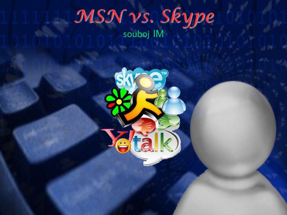 MSN vs. Skype MSN vs. Skype souboj IM