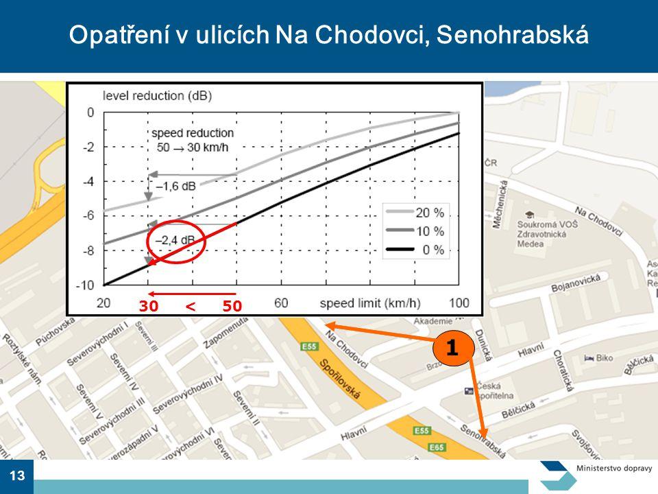 13 Opatření v ulicích Na Chodovci, Senohrabská 1 30 < 50