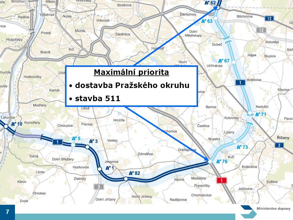 7 Maximální priorita • dostavba Pražského okruhu • stavba 511