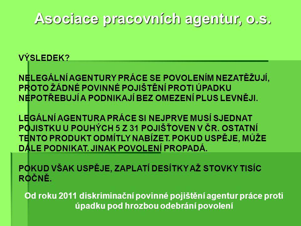 Od roku 2009 diskriminace českých agentur práce omezením podnikání jen na 1 subjekt a zpřísnění odbornosti odpovědného zástupce Asociace pracovních agentur, o.s.