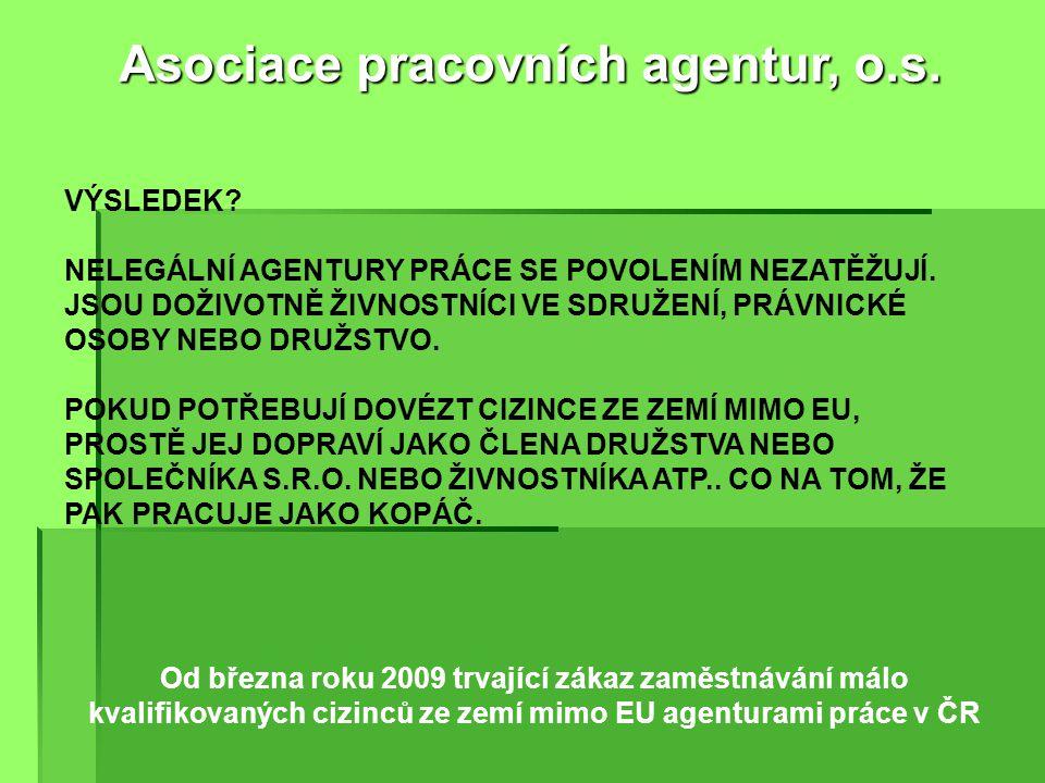 Od roku 2011 diskriminační povinné pojištění agentur práce proti úpadku pod hrozbou odebrání povolení Asociace pracovních agentur, o.s.