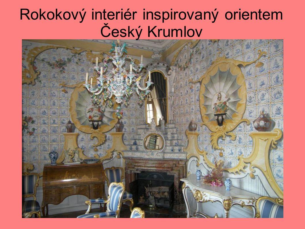 Rokokový interiér inspirovaný orientem Český Krumlov