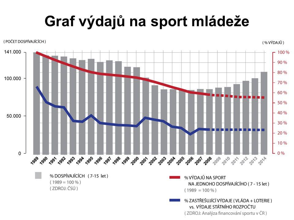 Popis stávajícího stavu •Výpadek ve financování sportu ve výši nejméně 2 mld.