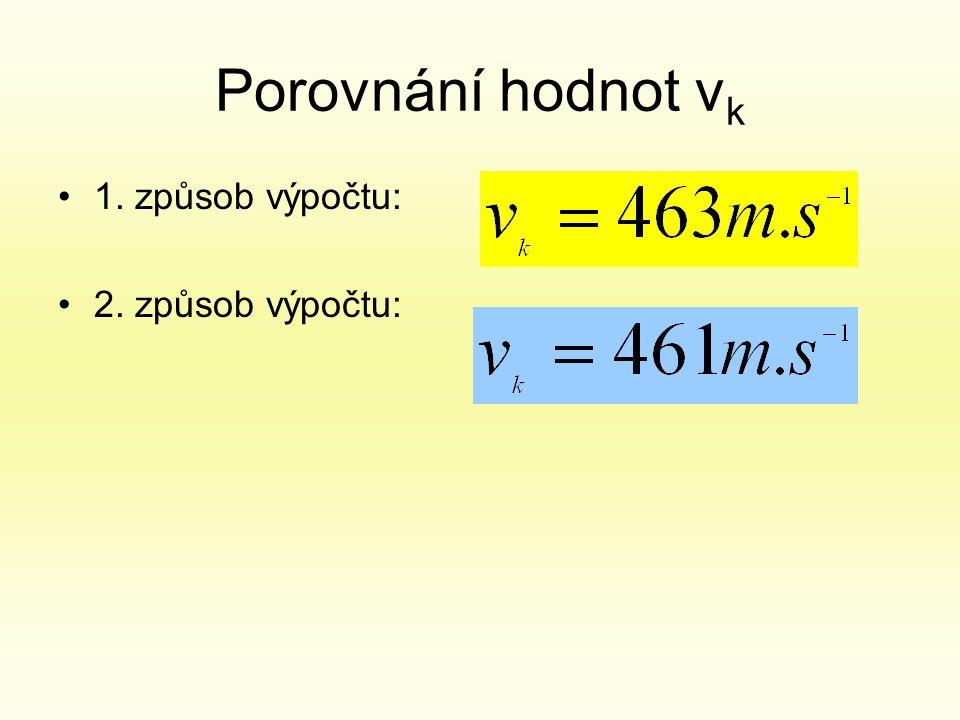 Porovnání hodnot v k •1. způsob výpočtu: •2. způsob výpočtu: