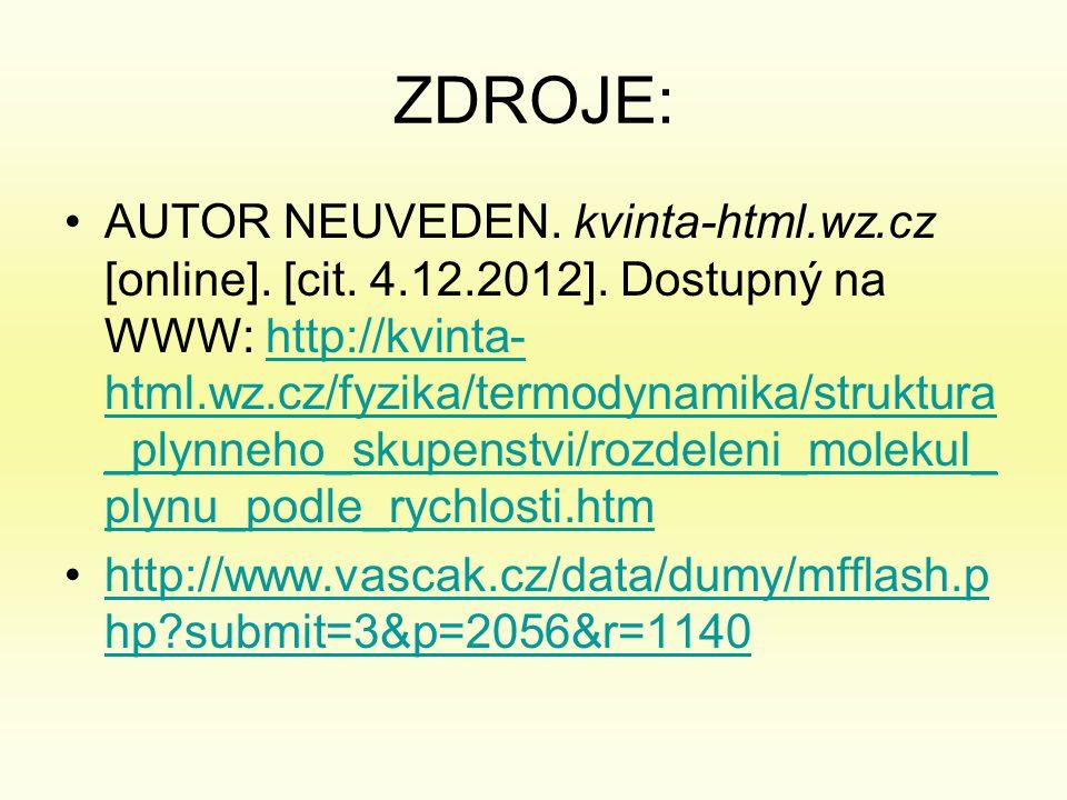 ZDROJE: •AUTOR NEUVEDEN.kvinta-html.wz.cz [online].