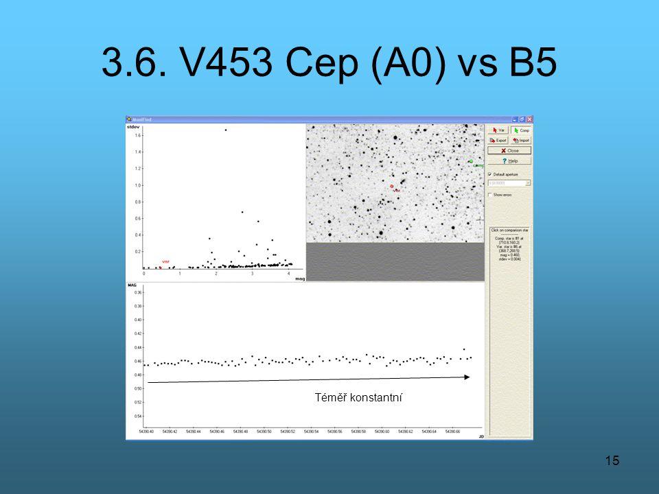 15 3.6. V453 Cep (A0) vs B5 Téměř konstantní