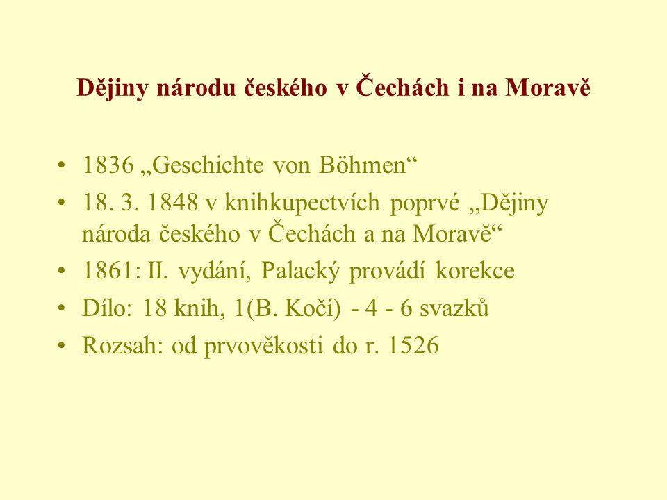 """•1836 """"Geschichte von Böhmen •18.3."""