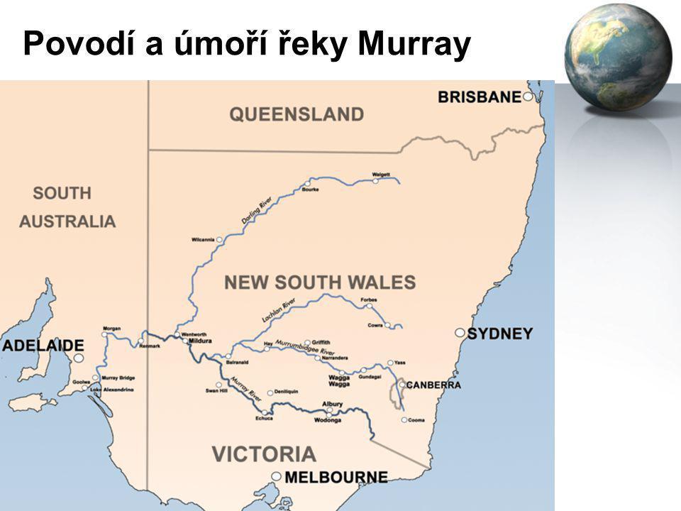 Povodí a úmoří řeky Murray