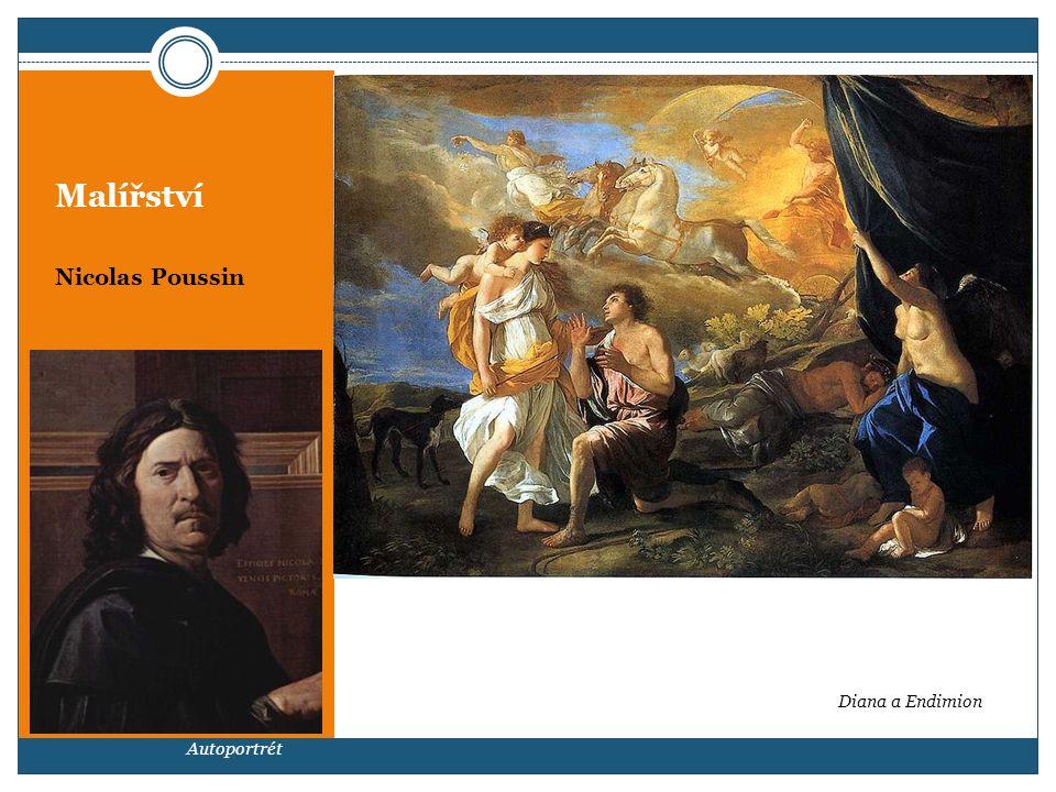 Malířství Nicolas Poussin Autoportrét Diana a Endimion
