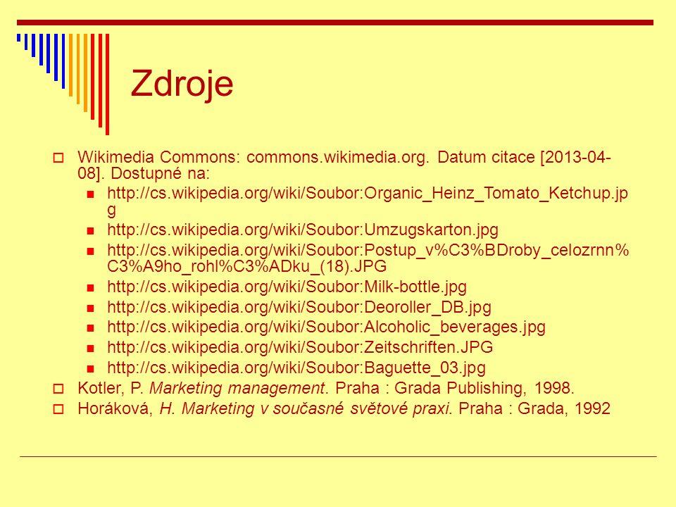 Zdroje  Wikimedia Commons: commons.wikimedia.org. Datum citace [2013-04- 08]. Dostupné na:  http://cs.wikipedia.org/wiki/Soubor:Organic_Heinz_Tomato